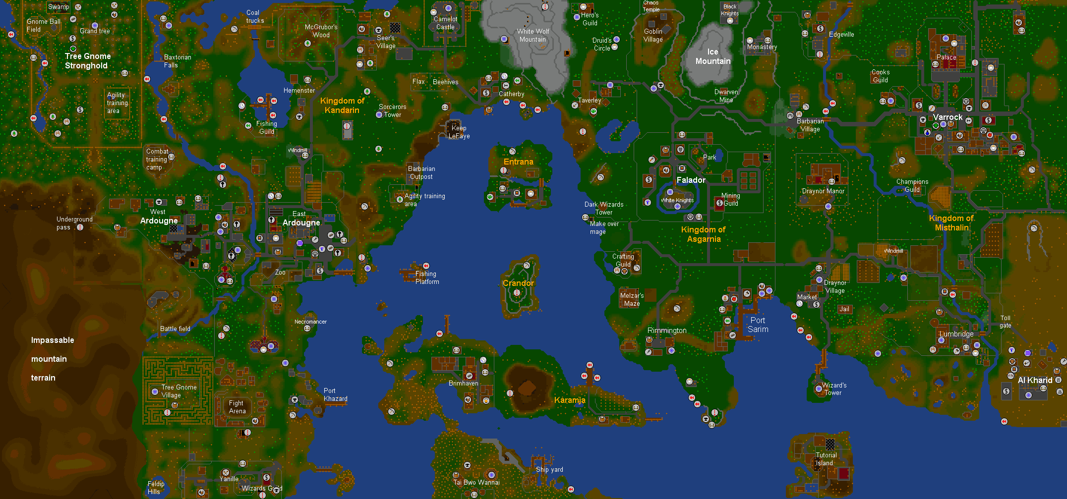 Runescape Classic World Map | Global Map